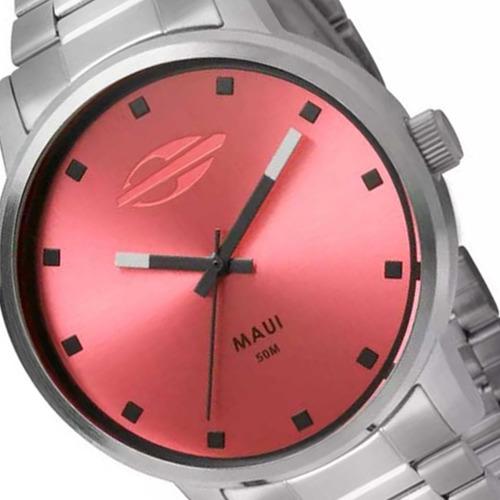 relógio mormaii feminino social aço prata barato mo2035ft/3t