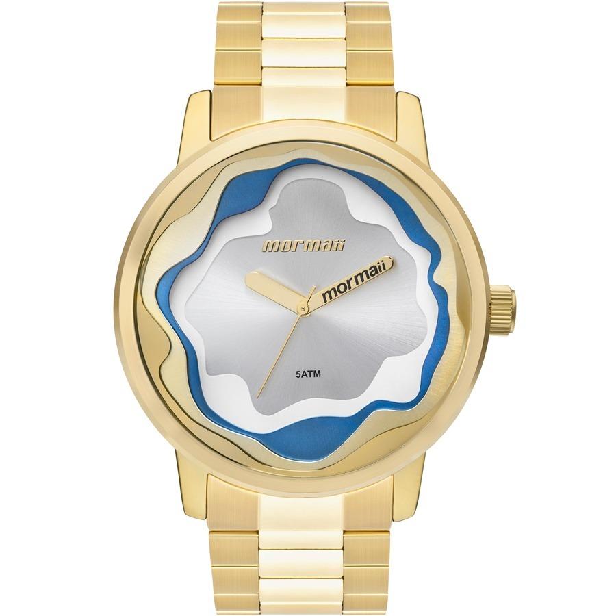 a4a41c7dd10 relógio mormaii feminino sunset dourado e azul mo2035iw 4d. Carregando zoom.