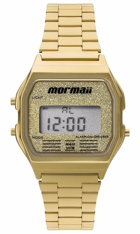 21804e5bd6f relógio mormaii feminino vintage mojh02ad 4b digital dourado. Carregando  zoom.