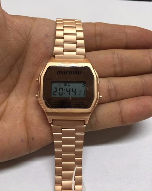 74bc93a17b0f2 Relógio Mormaii Feminino Vintage Mojh02ai 4j Rose Digital - R  198 ...