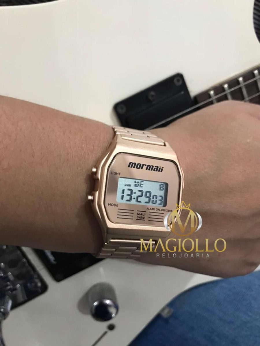 578425ef074 relógio mormaii feminino vintage mojh02ai 4j rose digital. Carregando zoom.