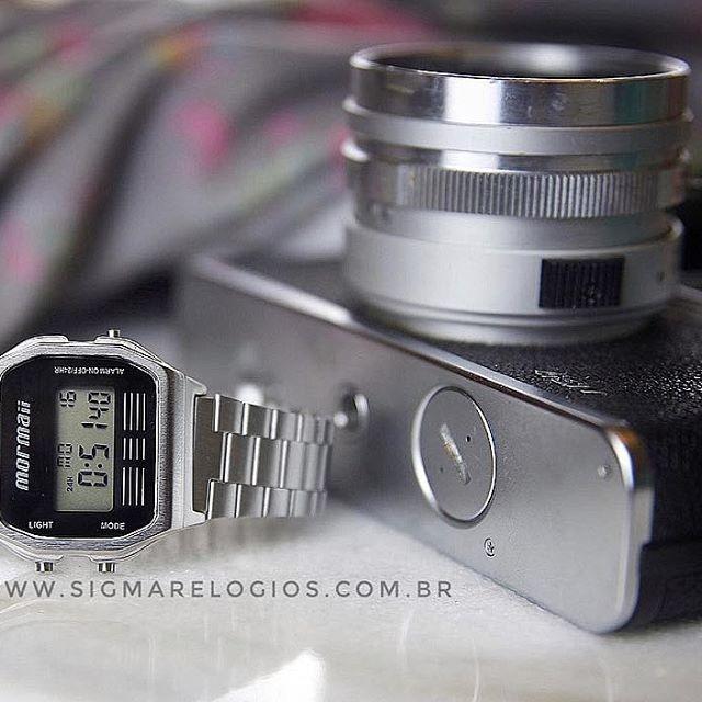 ac1e66f8247 Relógio Mormaii Feminino Vintage Prateado Mojh02aa 3c - R  181