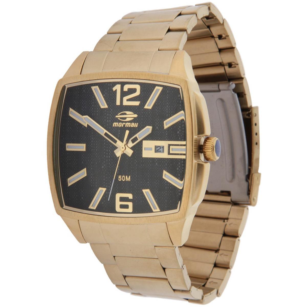 a5afe1c747aa5 Relógio Mormaii Loyal Dourado - R  399,90 em Mercado Livre