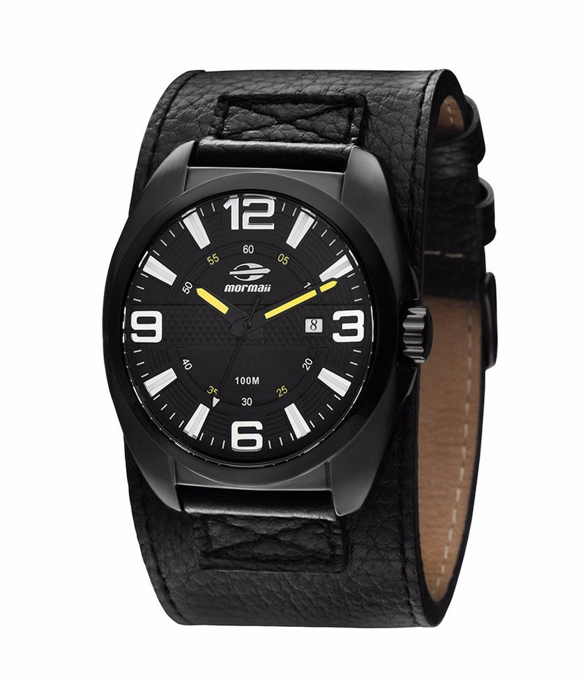 ab9f2f46331 relógio mormaii masculino 2115sz 0p bracelete couro preto. Carregando zoom.