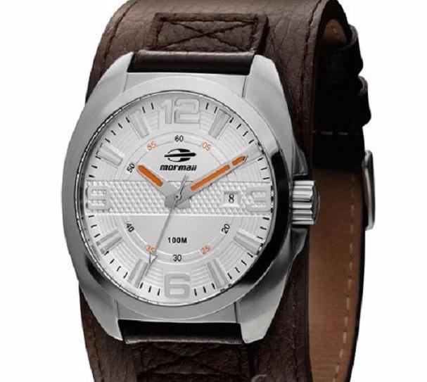 1573df8cd64 Relógio Mormaii Masculino 2115ta 0k Bracelete Couro Marrom - R  398 ...
