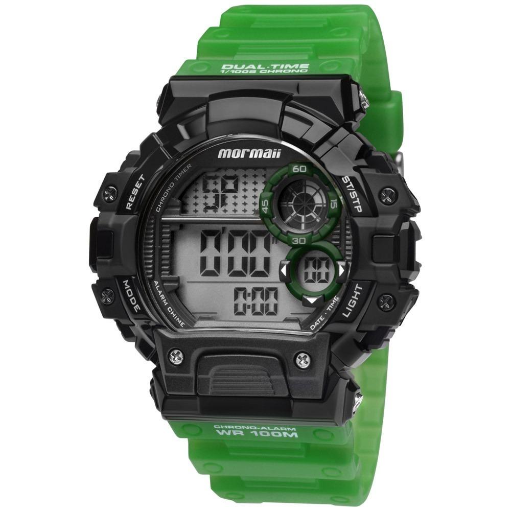 0df0e687685 Relógio Mormaii Masculino Digital Moyp13613 8v Shock Verde - R  149 ...