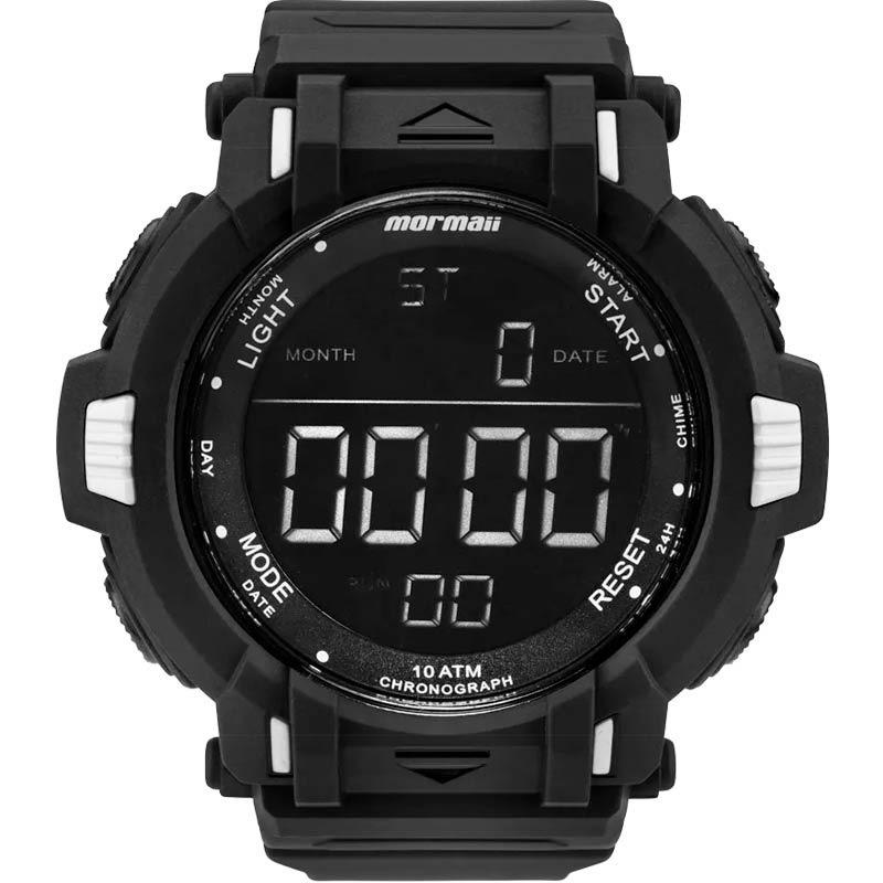 45d4625367c84 Relógio Mormaii Masculino Preto Digital Esporte Mom08111 8p - R  105 ...