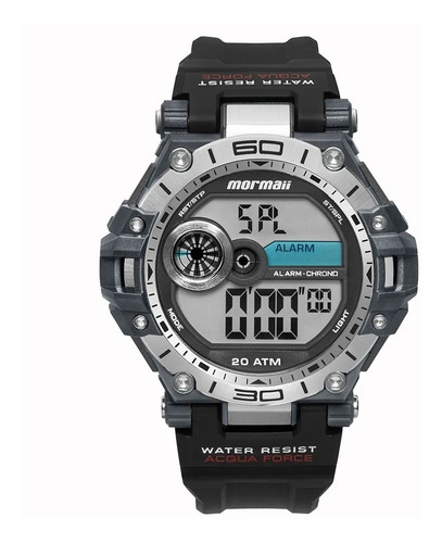 relógio mormaii masculino acqua force mo14073aa lançamento