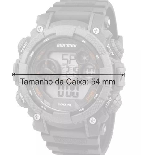 relógio mormaii masculino acqua mo12579d/8j nfe/original