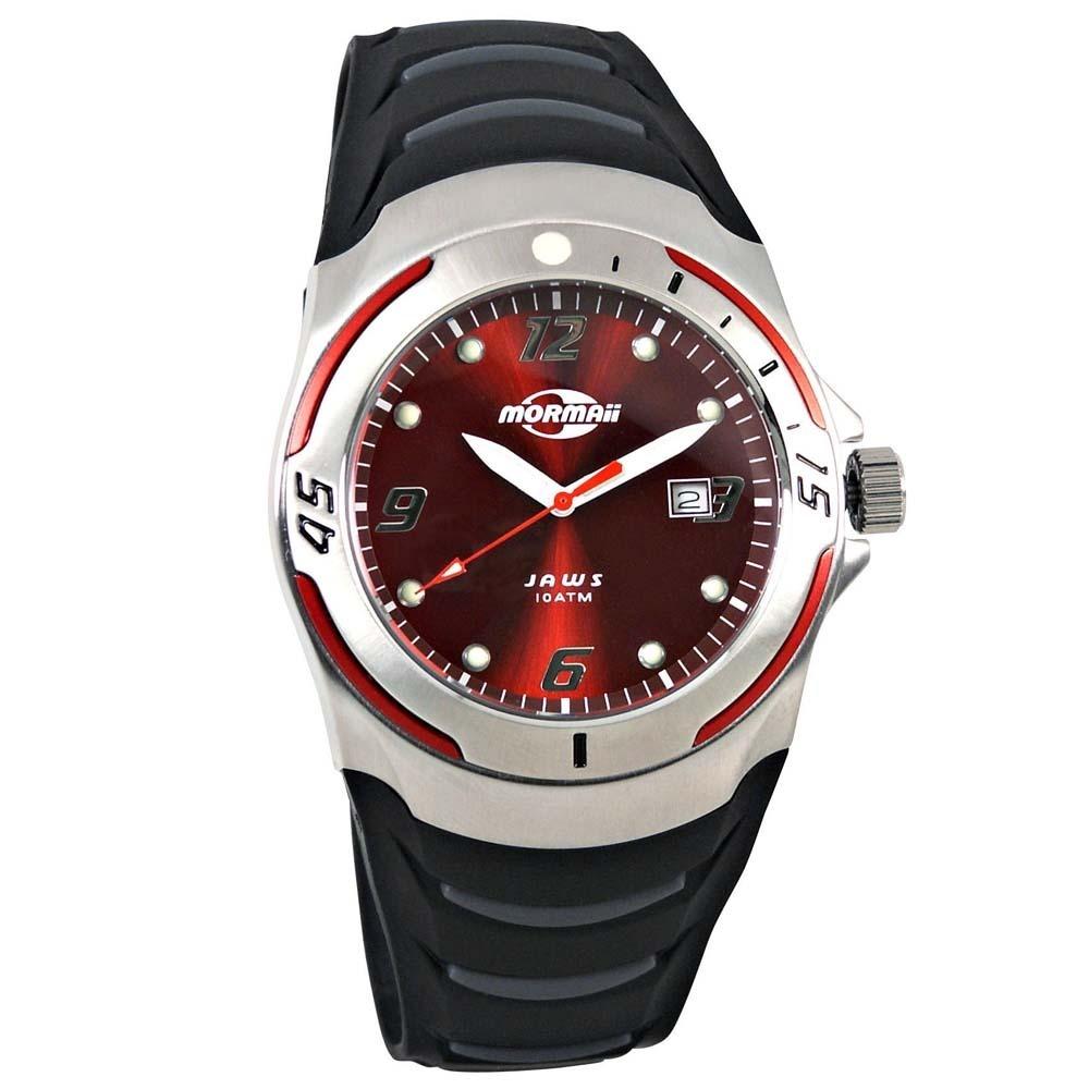 34949e8416b98 relógio mormaii masculino analógico 2115ar 8r vermelho aço. Carregando zoom.