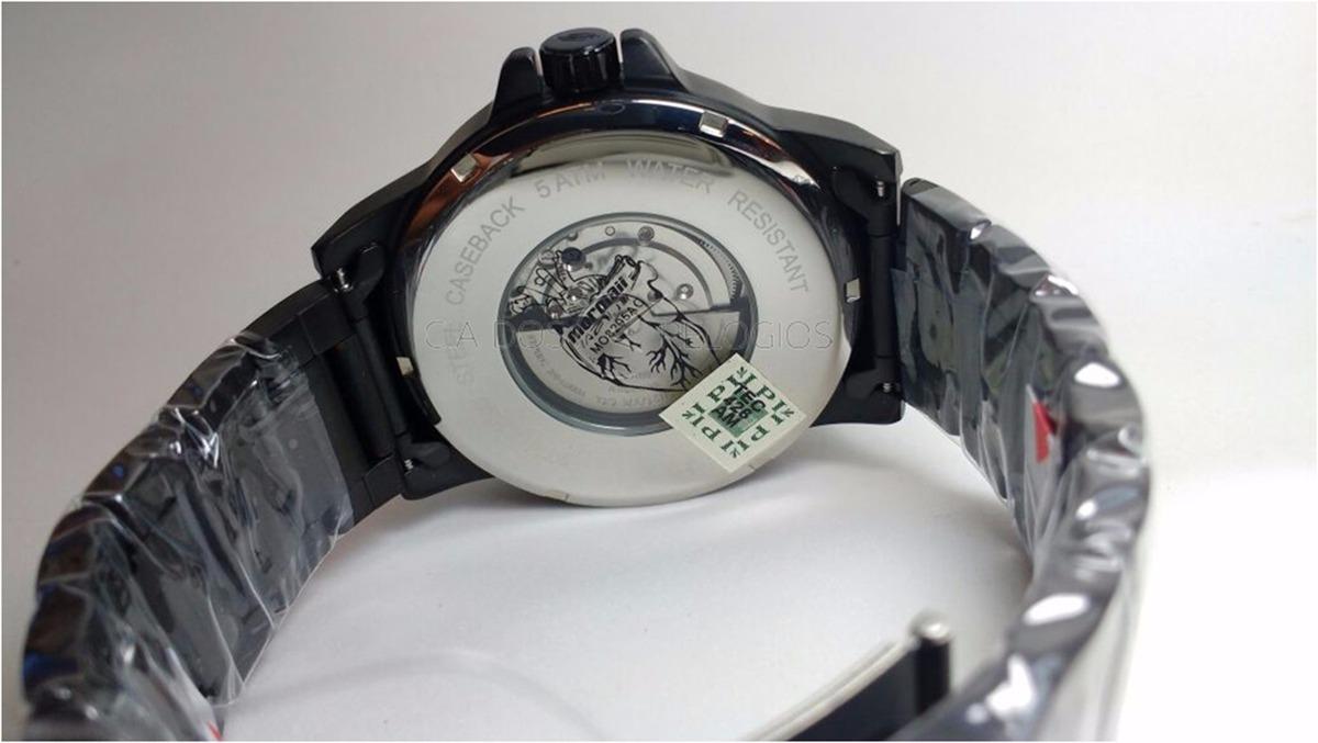 738691bc704 relógio mormaii masculino automatico mo8205ac 4p preto. Carregando zoom.