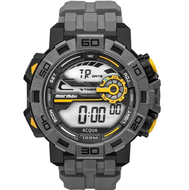 edec4aced2727 Relógio Mormaii Masculino Digital Acqua Pro Mo1148ac 8c - Nf - R  174