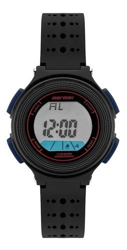 relógio mormaii masculino digital mo0974e/8p preto pequeno
