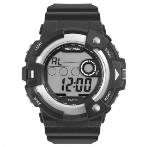 relógio mormaii masculino digital preto mo15100aa/8k