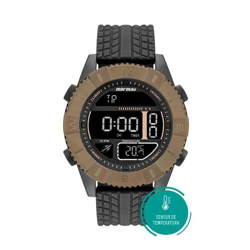 relógio mormaii masculino digital silicone mo5334ad/8p