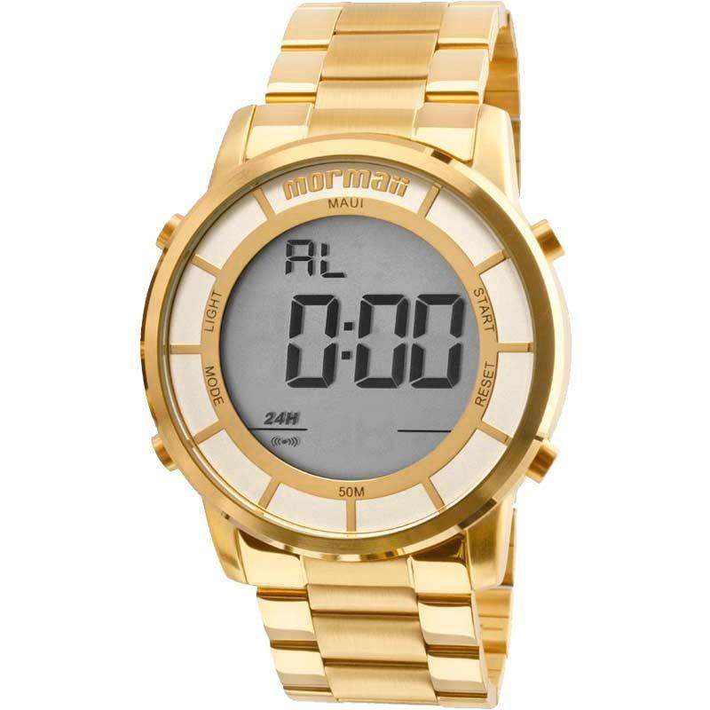 1f9f9790164c4 relógio mormaii masculino dourado digital g mobj3463dc 4d. Carregando zoom.