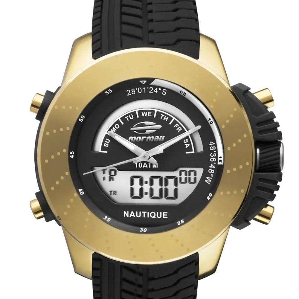 8947e31166e57 relógio mormaii masculino dourado robusto mergulhador c  nf. Carregando zoom .