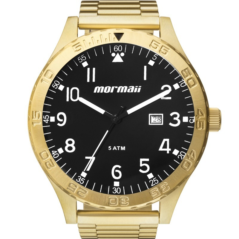 56a8d0d17f4 relógio mormaii masculino flip dourado e preto mo2115an 4p. Carregando zoom.