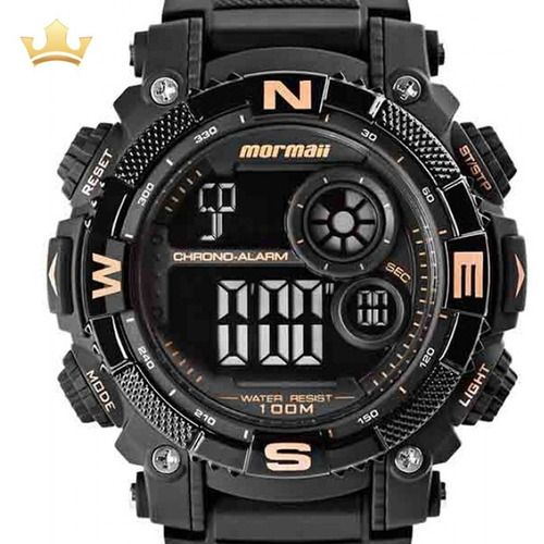 relógio mormaii masculino mo12579d/8j c/ garantia e nf