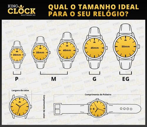 relógio mormaii masculino mo2035jd/4p c/ garantia e nf
