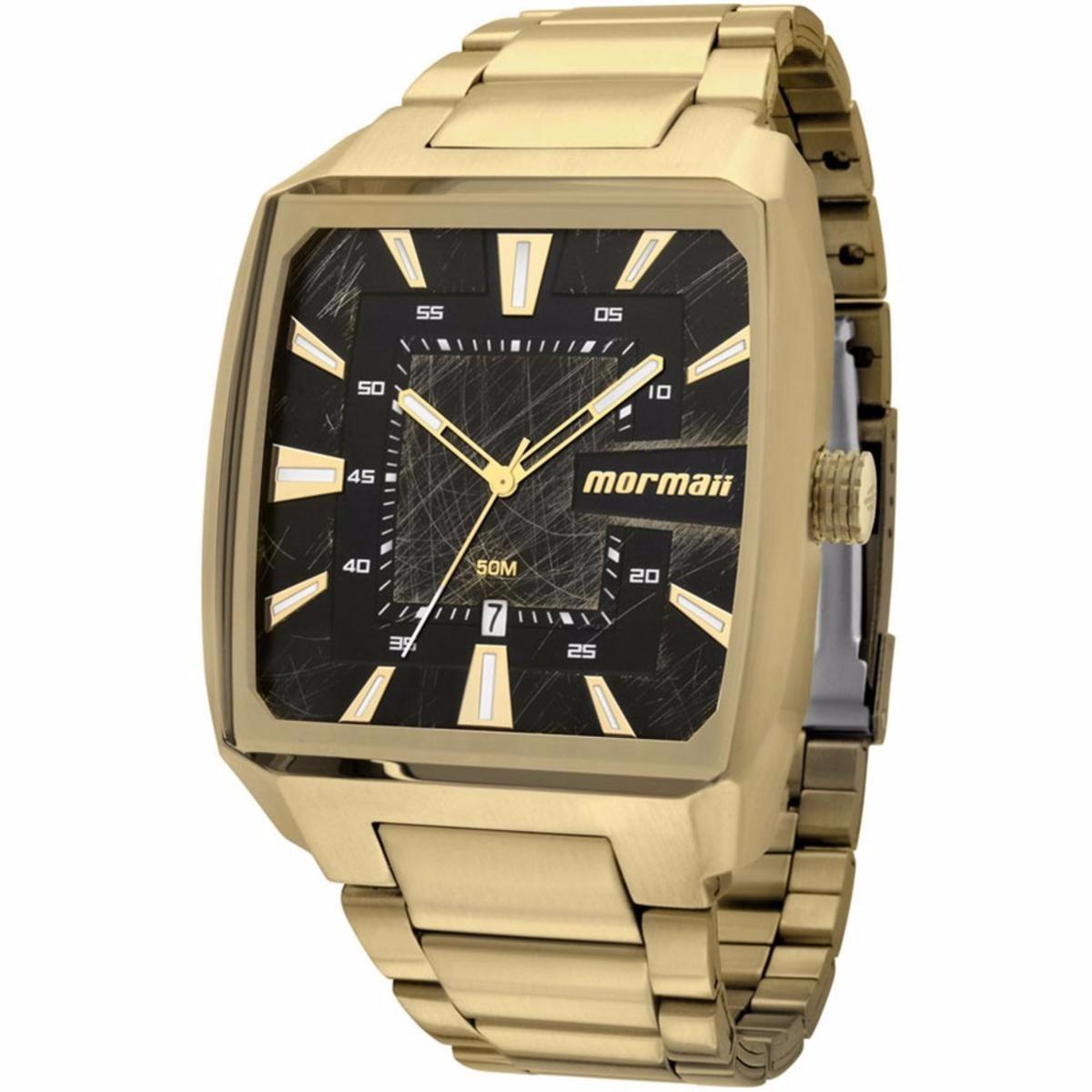 6485f18d9a8a6 relógio mormaii masculino mo2315am 3p dourado extra grande. Carregando zoom.