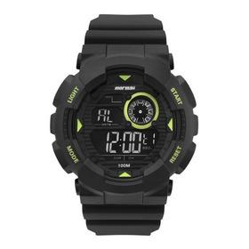 Relógio Mormaii Masculino Mo3415c/8v Digital Verde Preto