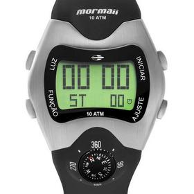 Relógio Mormaii Masculino Thunder Prata  Mo1324ab/1p Bussola