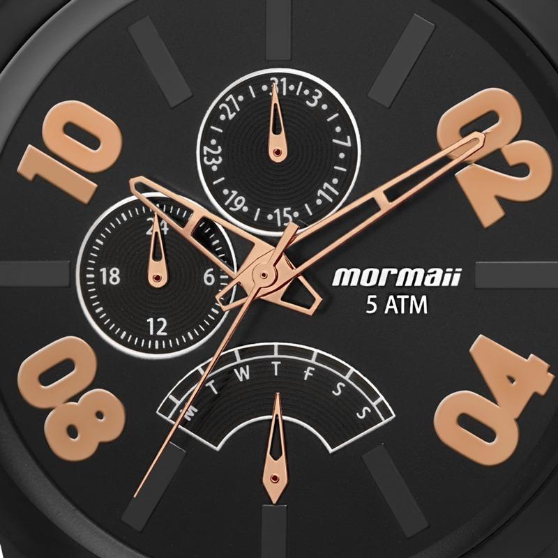 relógio mormaii masculino urban preto fosco nfe mojr10ab 4j. Carregando  zoom. 328ea23f76