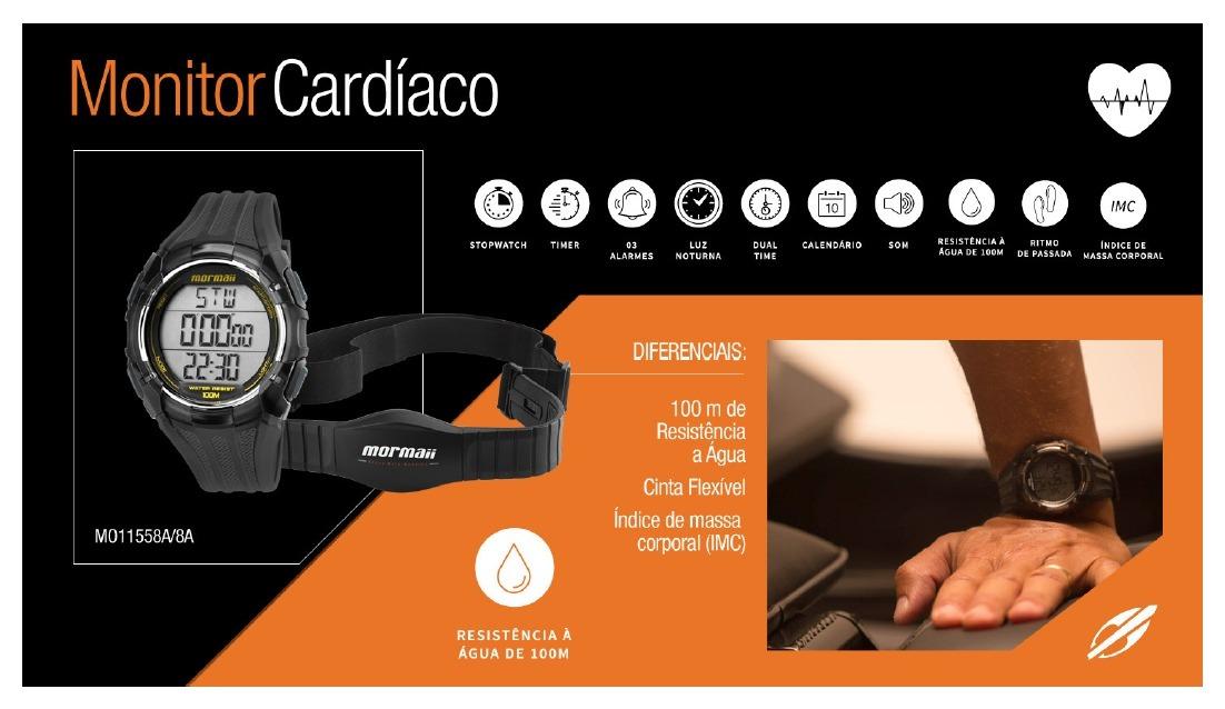 relógio mormaii monitor cardíaco masculino - mo11558a 8a. Carregando zoom. 96cc331c04