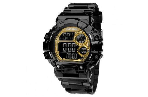 0ab1b642dd1 Relógio Mormaii Preto Com Dourado Digital Mo13613b 8d - R  199