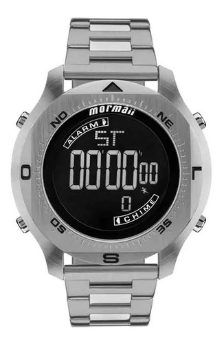 relógio mormaii pro digital prata - mo11273c/1p