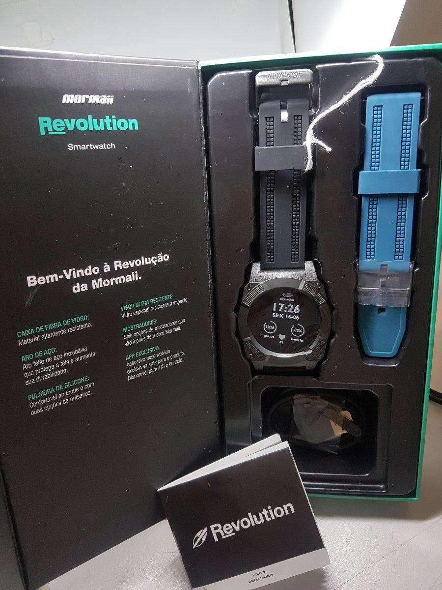 relógio mormaii revolution smartwatch touch mosrab 8p preto. Carregando  zoom. 2897bd0d04