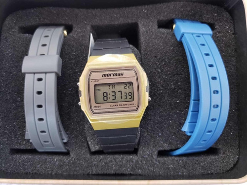 relógio mormaii troca pulseira unissex