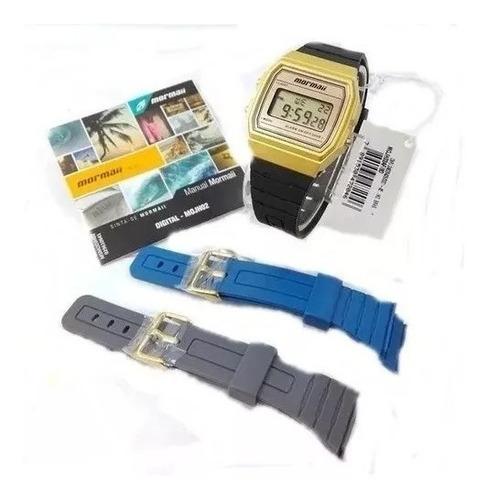 relógio mormaii troca pulseira vintage mojh02af8d promoção