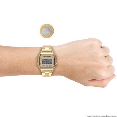 09b5364d19c72 Relógio Mormaii Unisex Vintage Mojh02ab 4d Digital Dourado - R  298,35 em  Mercado Livre