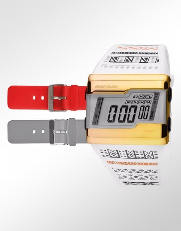 1bb58be0562 Relógio Mormaii Unissex Acquarela Troca Pulseiras Fzv 8r - R  169