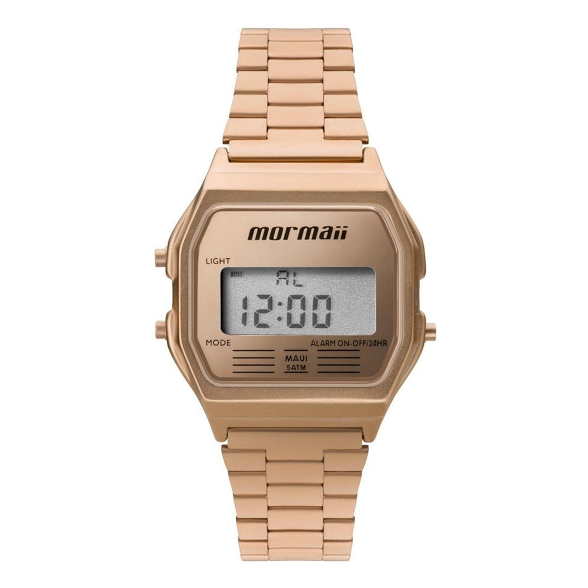 7d65e998dd62b Relógio Mormaii Unissex Vintage Rosé Digital Mojh02ai 4j - R  283