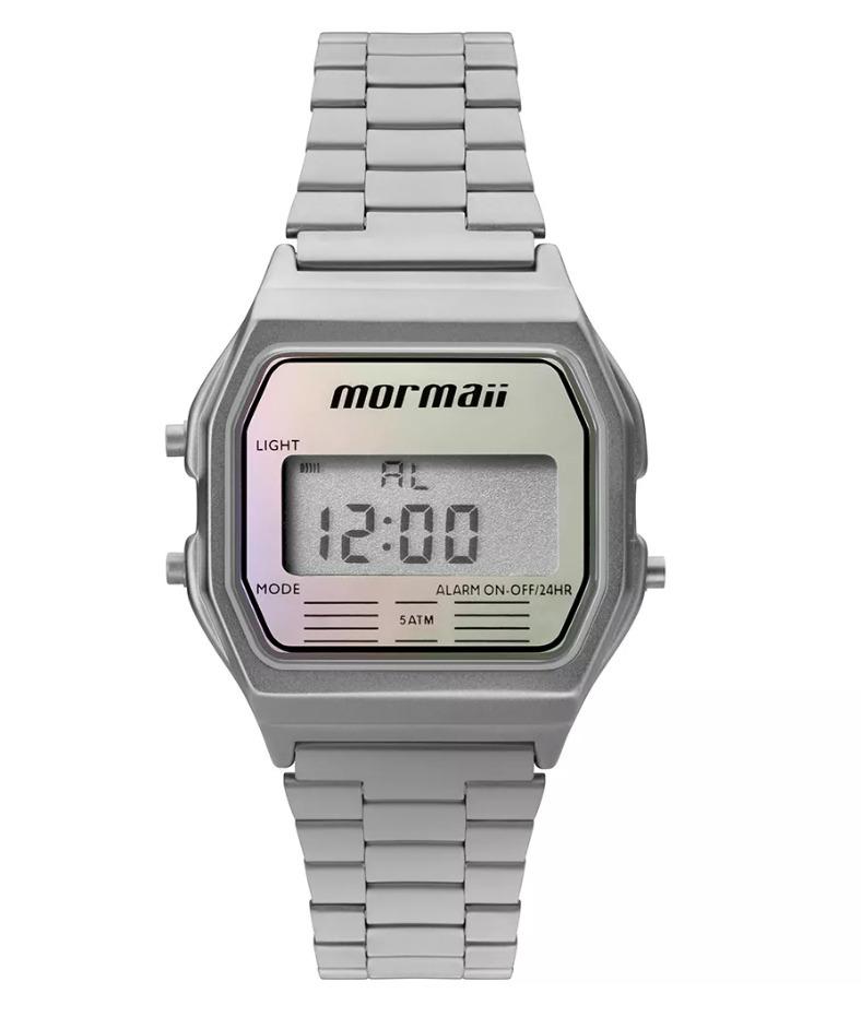 Relógio Mormaii Unissex Vintage Prata Mojh02aq 3k - R  189,00 em ... a0fdb3b294