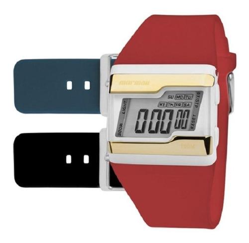 relogio mormaii unissex digital - fzv/t8p ( troca pulseiras)