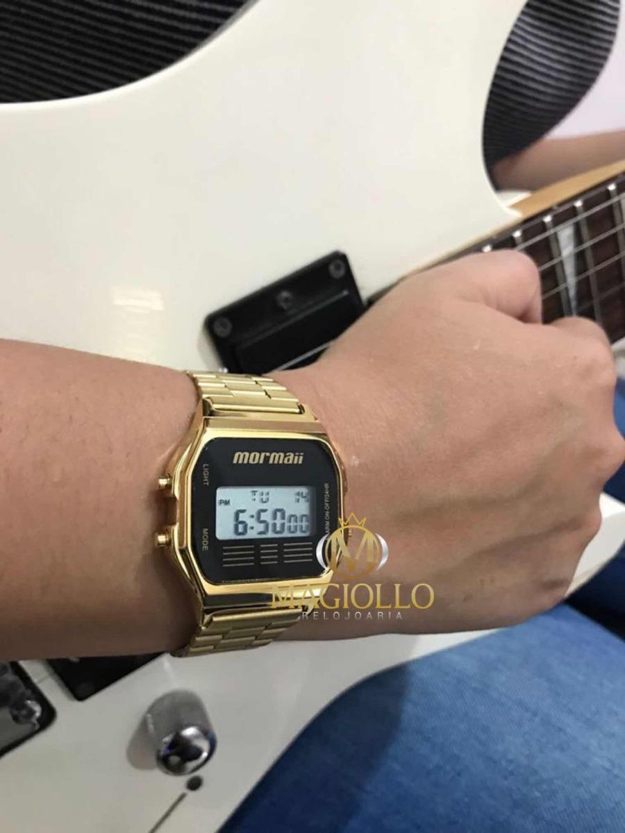 a5f6eadb8e0e5 relógio mormaii unissex vintage digital dourado mojh02ab 4p. Carregando  zoom.