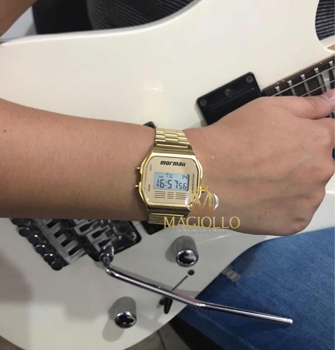 5eaeb429ca8b9 relógio mormaii vintage digital dourado unissex mojh02ab 4d. Carregando  zoom.