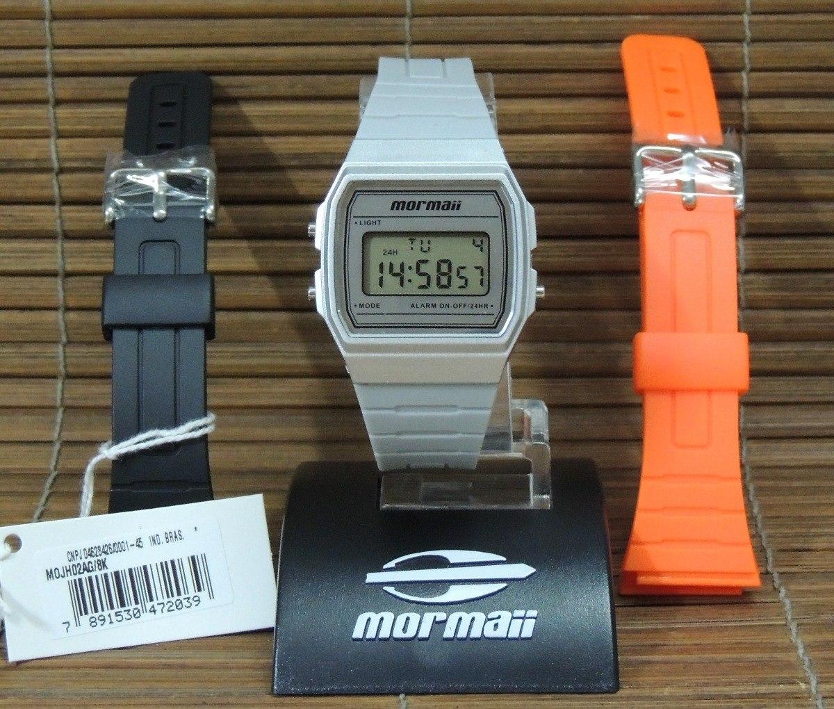 d8f216a6066 Relógio Mormaii Vintage Troca Pulseiras Mojh02ag 8k - Nf gar - R ...