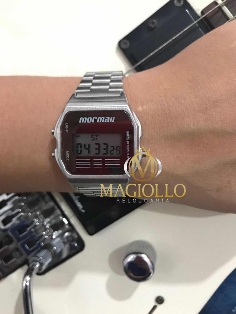 6c01b1ad46a Relógio Mormaii Vintage Unissex Digital Prata - Mojh02aa 3c - R  199 ...
