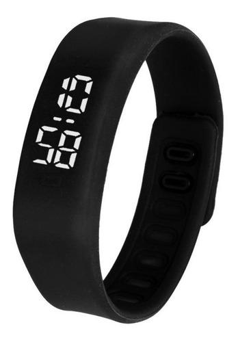 relógio - mostrador invisível - quartzo novo (preto)