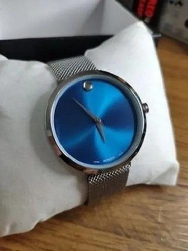 relógio movado azul