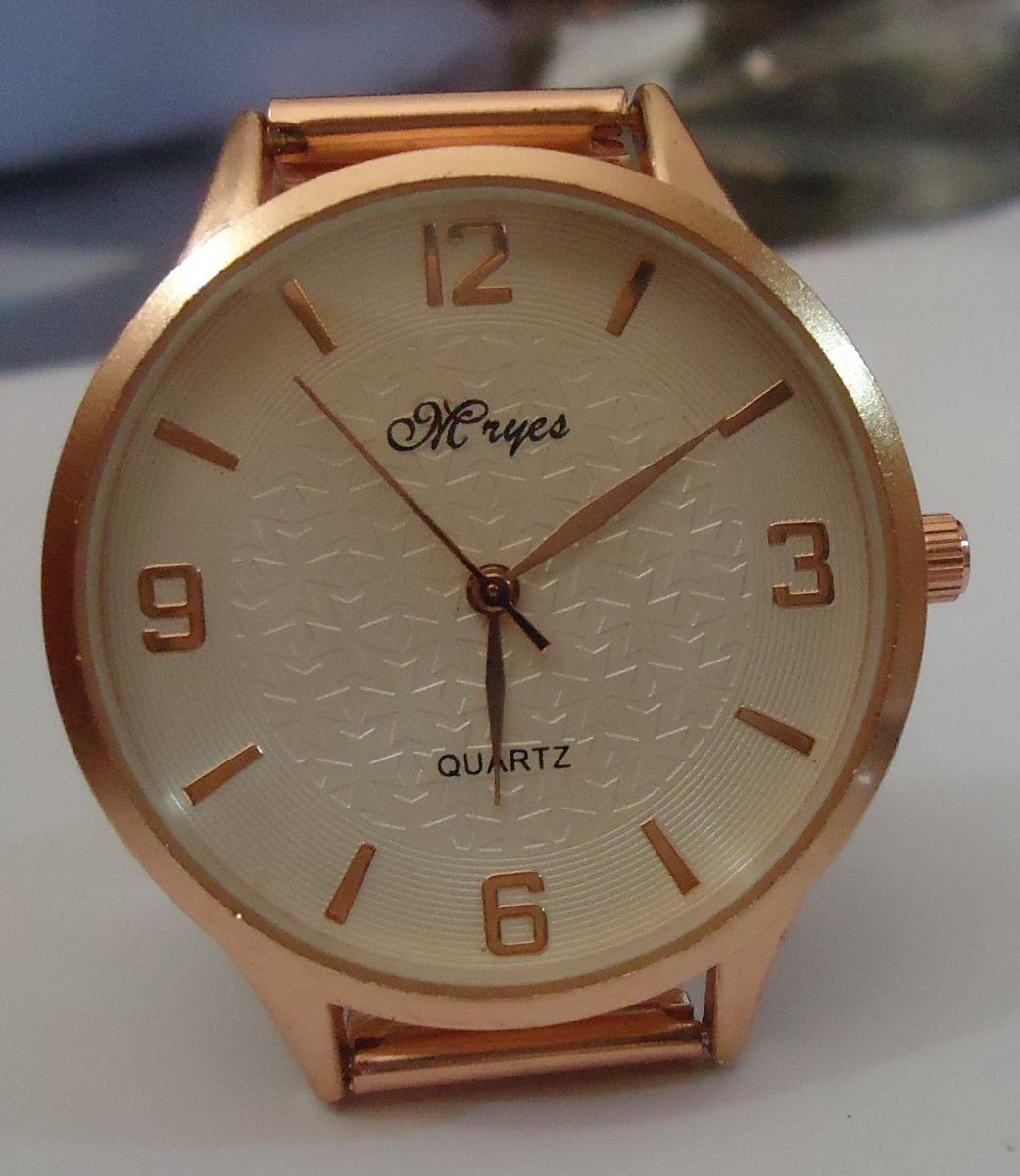 ec21be4170a relógio mryes mostrador branco pulseira série ouro rosê. Carregando zoom.
