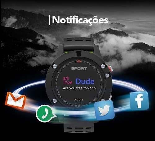 relogio multisport gps bom e barato smartwatch completo f5