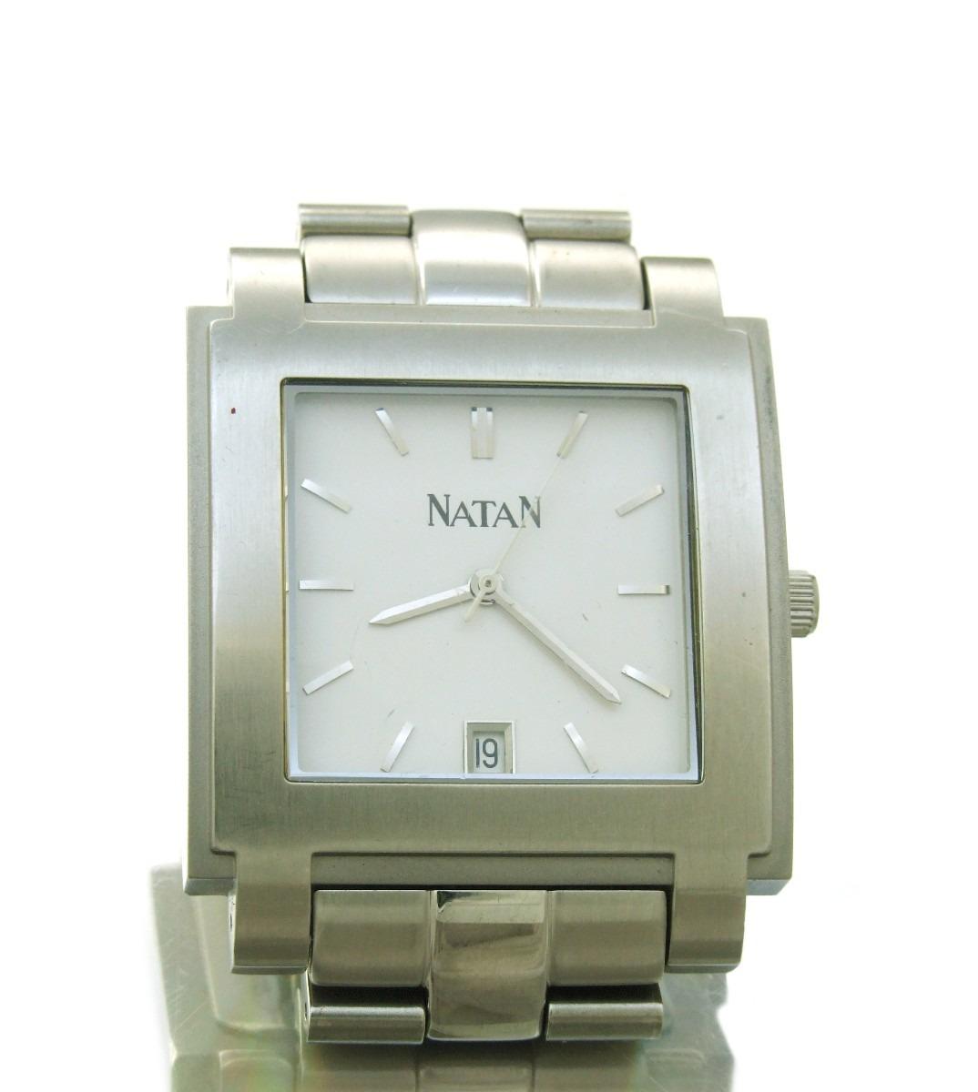 5a74c81ed3a Relógio Natan Em Aço Inoxidável Com Calendário J10814 - R  2.799