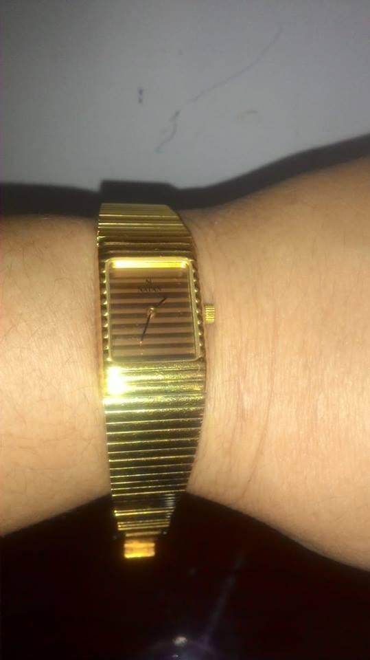 07f008cf51c Relógio Natan - Feminino - Quartz - Folheado À Ouro - R  950