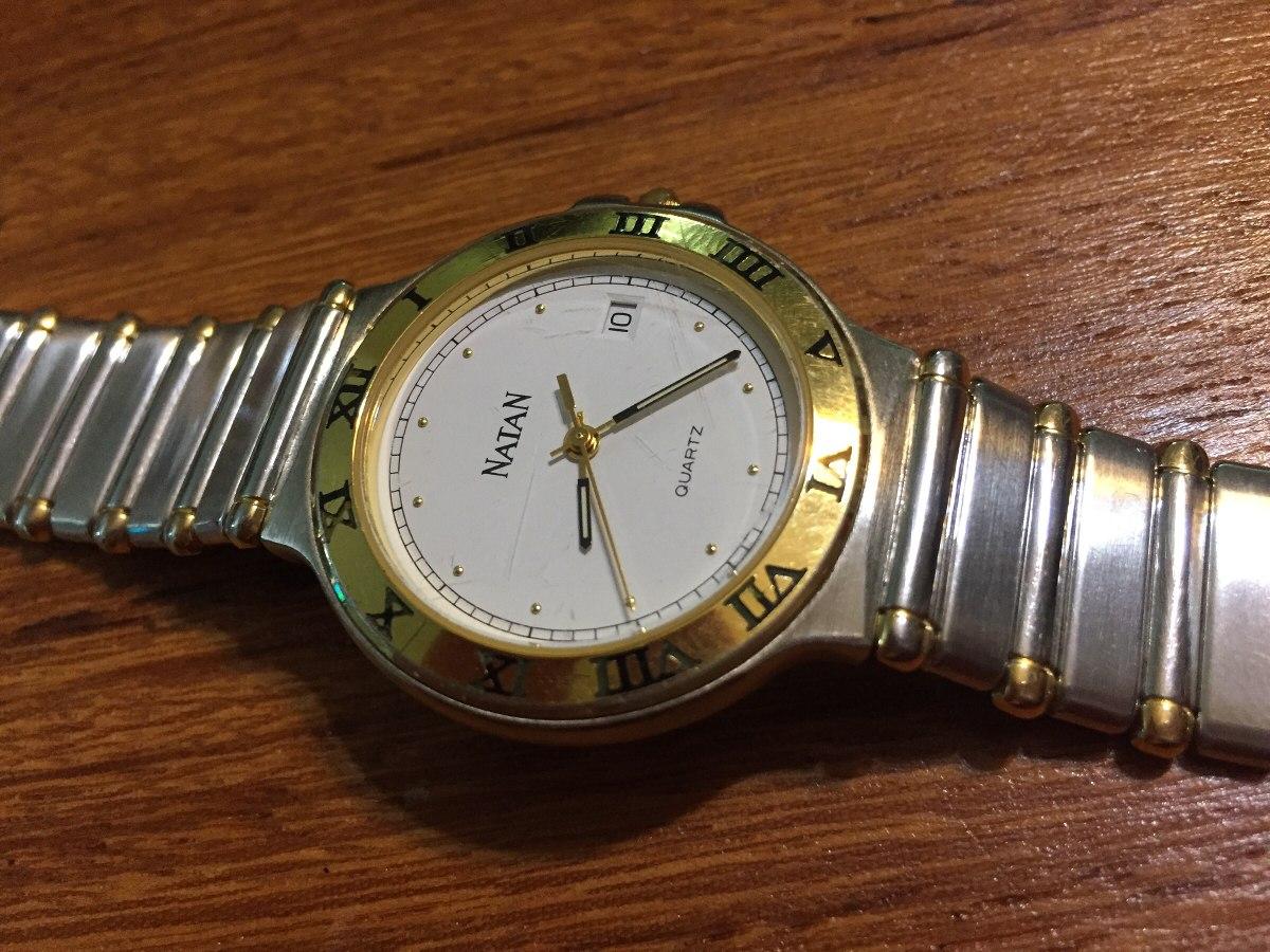 75d8011bb6f relógio natan original aço e ouro original. Carregando zoom.